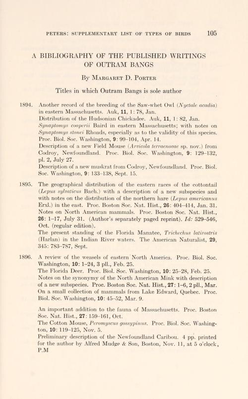 Bibliography of the published writings of Outram Bangs