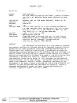 ERIC - ERIC ED459381: The NIDA Community-Based Outreach Model: A Manual To Reduce the Risk of HIV and Other Blood-Borne Infections in Drug Users.