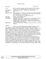 ERIC - ERIC ED464350: Grade 8 English Language Arts Released Test Items: Sample Student Work Illustrating LEAP 21's Achievement Levels.