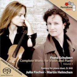 Complete Works for Violin and Piano, Volume 2 by Franz Schubert ;   Julia Fischer ,   Martin Helmchen