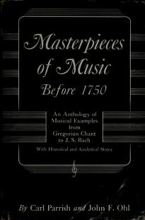Masterpieces of music before 1750 by Carl Parrish